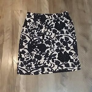 Loft midi skirt with floral design
